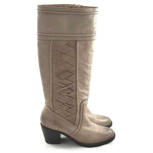 Fossil Felicia Vintage Tan Leather Tall Boots